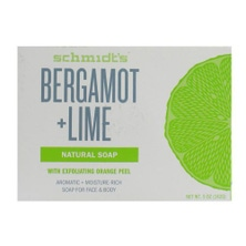 SCHMIDT'S 142g NATURAL SOAP FOR FACE & BODY BERGAMOT + LIME