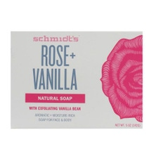 SCHMIDT'S 142g NATURAL SOAP FOR FACE & BODY ROSE + VANILLA