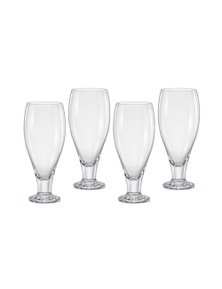 Bohemia Bar Beer Glass Set Of 4 - 380ml