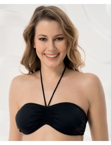 Aqua Perla Womens Madeira Bandeau Bikini Top