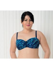 Aqua Perla Womens Deep Blue Bikini Top