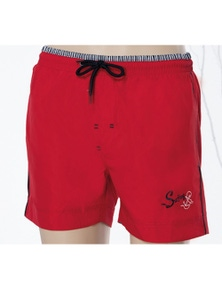 Aqua Perla Mens Kaui Red Swim short