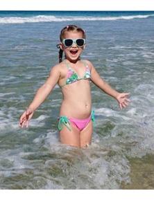 Aqua Perla Girl Lolita Pink Printed SPF50+ Bikini