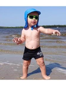 Aqua Perla Baby Boy Daisy Black Trunk SPF50+