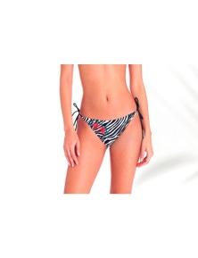 Aqua Perla Womens Lucinda Zebra Bikini Bottom SPF50+