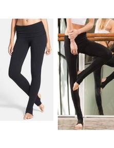 Jerf Womens Diu Black Yoga and Dance Leggings