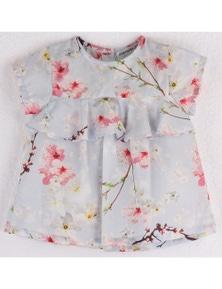 Mamino Girl Blossom Blouse with Ruffle Sleeves