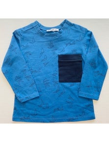 Mamino Boy Birdy Printed T-Shirt With Chest pocket