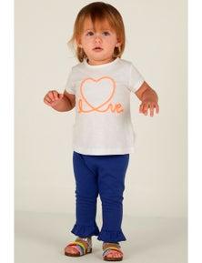 Mamino Baby Girl Love Ruffle Pant and T-Shirt 2 Pieces Set