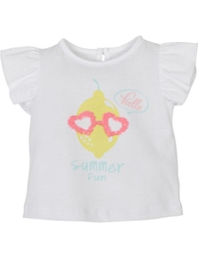 Mamino Baby Baby Girl Summer Fun T-Shirt with embroidery