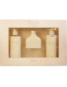 Fcuk Friction 3Pc by Fcuk for Female (100ML) Eau de Parfum - GIFT SET