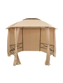 Garden Marquee Pavilion Tent With Curtains Hexagonal