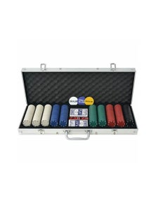 Aluminum Poker Set With 500 Chips