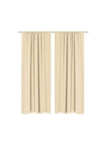 Blackout Curtains 2 Pieces Double Layer