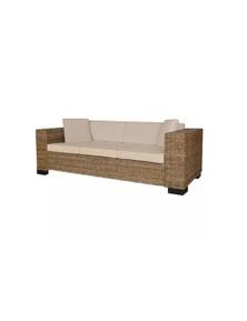 3 Seater Sofa Set Real Rattan