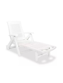 Sun Lounger With Footrest Plastic