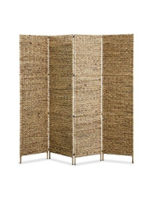 4 Panel Room Divider Water Hyacinth
