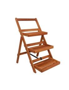 3 Tier Plant Stand Solid Acacia Wood