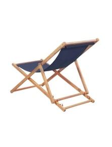 Folding Beach Chair Fabric And Eucalyptus Wooden Frame