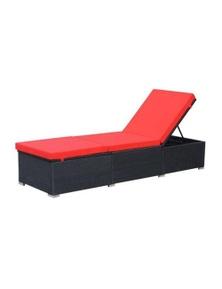 Sun Lounger With Cushion Rattan