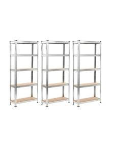 Storage Shelves 3 Pieces Silver