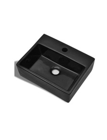 Ceramic Bathroom Sink Basin With Faucet Hole Squared