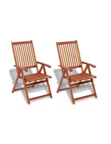 Folding Garden Chairs 2 Pieces Solid Acacia Wood