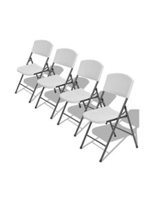 Folding Garden Chairs 4 Pieces Steel And