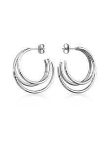 Rosefield Lois Triple Hoop Earrings Silver