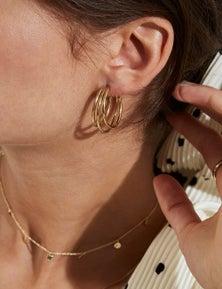 Rosefield Lois Triple Hoop Earrings Gold