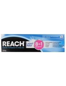 Reach 120g Toothpaste 8 in 1 Benefits Fresh Mint
