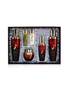 3W Clinic Red Ginseng Nourishing Skin Care Set: Toner 130ml+ Emulsion 130ml+ Serum 50ml+ Cream 55g+ Toner 30ml+ Emulsion 30ml 6pcs