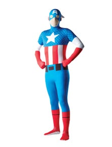 Rubies Captain America 2nd Skin Suit Costume