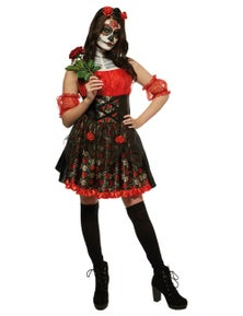 Rubies Red Rose Day Of The Dead Costume