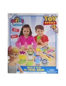 Toy Story 4 Softee Dough Mold-N-Play Figure MakerBo PeepBuzz