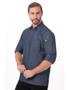 Chef Works Detroit Long Sleeve Denim Shirt