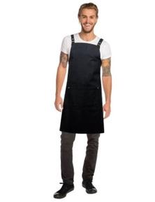Chef Works Byron Cross-Back Black Apron