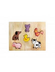 Qtoys Farm Animal Play Set & Puzzle