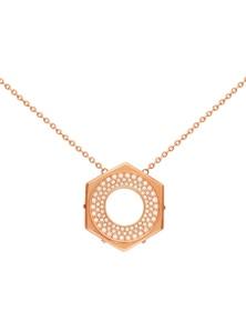 Swarovski Bolt NecklaceCrystal/Rose Gold