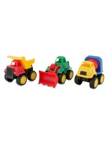 Hunson Construction Truck Playset 2x 3pc