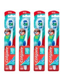 Colgate 360 Bluetoothbrush Medium Head -Assorted Colours 4x