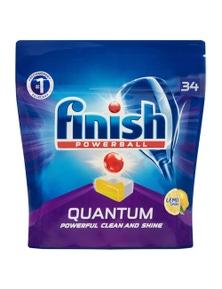 Finish Quantum Dishwashing TabletsLemon Sparkle 34PK