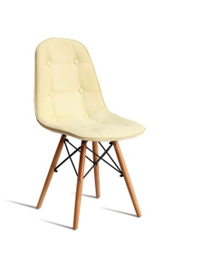 Levede 4 Pcs Replica Eames Dinning Chair with Extra Padded PU Leather Seat