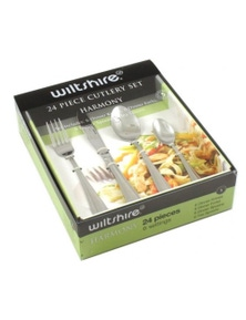 Wiltshire Harmony Cutlery Set 24 Piece Stainless Steel