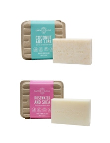 Earth Love Body Scrub Bar and Body Wash Bar Duo
