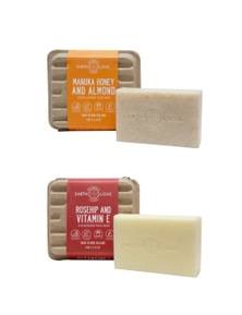Earth Love Exfoliating face Bar Pack Duo