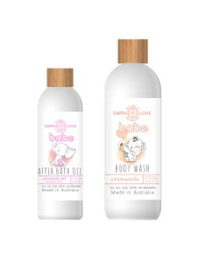 Earth Love Hair & Body Wash and After Bath Oil Duo