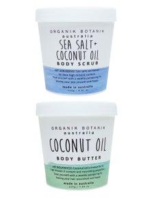 Organik Botanik Body Scrub and Body Butter Duo