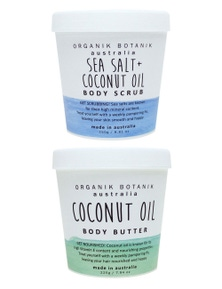Organik Botanik Body Scrub and Body Butter Duo