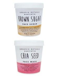 Organik Botanik Face Scrub and Face Mask Duo